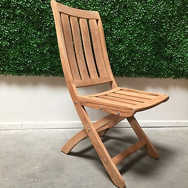 HiTeak Furniture Country Folding Patio Dining Chair
