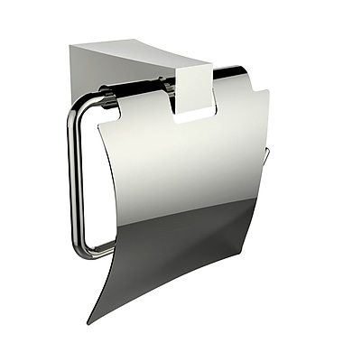 American Imaginations Wall Mounted Brass Toilet Paper Holder