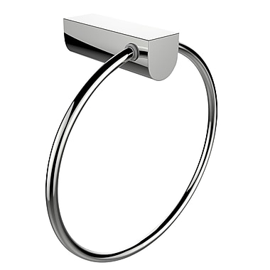 American Imaginations Brass Constructed Towel Ring