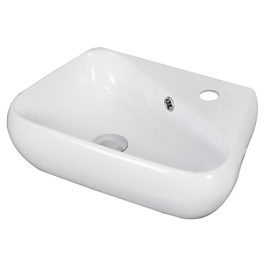 American Imaginations Above Counter Specialty Vessel Bathroom Sink w/ Overflow
