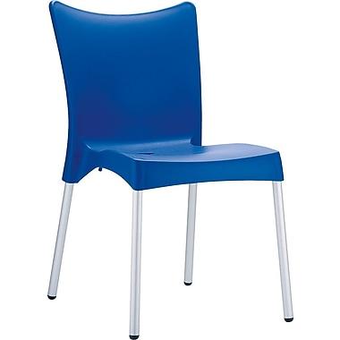 Siesta Exclusive Juliette Armless Stacking Chair; Blue