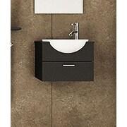JWH Living Mira 20.9'' Single Wall Mounted Modern Vanity Set
