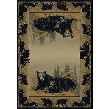 Hautman Brothers Rugs Hautman Time To Play Black/Beige Area Rug; 1'10'' x 3'