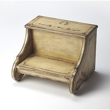Butler Sussex Hand Painted 2 Step Wood Step Stool; Gilted Cream