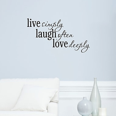 Belvedere Designs LLC Live Laugh Love Passions Wall Quotes Decal