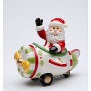 CosmosGifts Santa Flying on The Plane Salt and Pepper Set