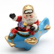 CosmosGifts Santa w/ Plane Salt and Pepper Set