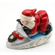 CosmosGifts Santa w/ Snowmobile Salt and Pepper Set