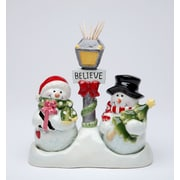 CosmosGifts Snowman Salt and Pepper Set Toothpick Holder