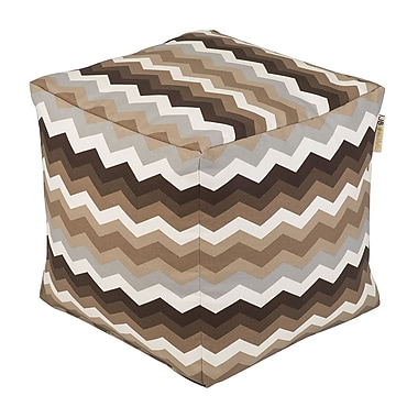 JB Home Wave Occassional Outdoor Pouf Ottoman; Mayan