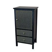 Gallerie Decor Ritz Accent Cabinet; Espresso / Bronze