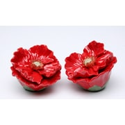 CosmosGifts Poppy Flower Salt and Pepper Set