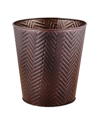 Fashion Home Chevron 3 Gallon Waste Basket