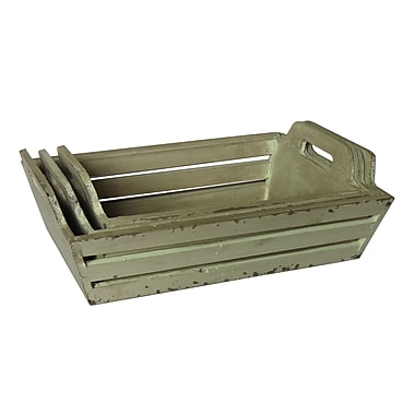 Cheungs Wooden Crates; White