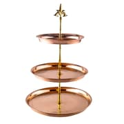 Old Dutch 3 Tier Hammered Solid Serving Stand