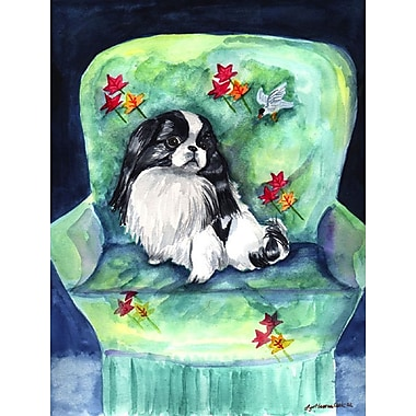 Caroline's Treasures Japanese Chin in Momma's Chair House Vertical Flag