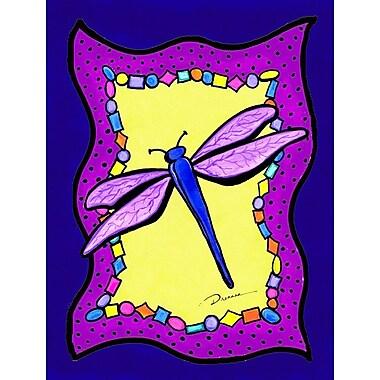 Caroline's Treasures Dragonfly Flag House Vertical Flag