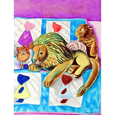 Caroline's Treasures Red and White Pomeranians on the Couch House Vertical Flag