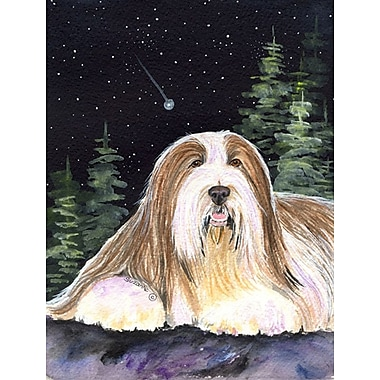 Caroline's Treasures Starry Night Bearded Collie 2-Sided Garden Flag