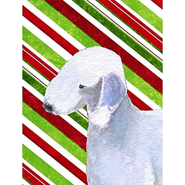 Caroline's Treasures Bedlington Terrier Candy Cane Holiday Christmas 2-Sided Garden Flag