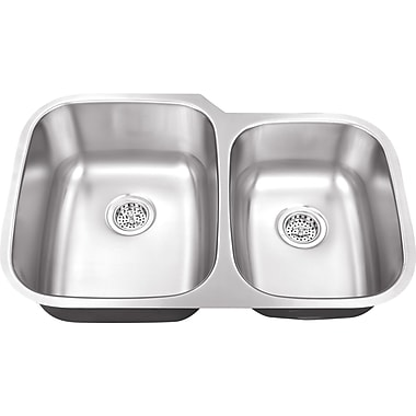 Soleil 32'' x 20.75'' Double Bowl Kitchen Sink