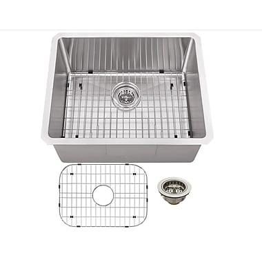 Soleil 23'' x 19'' Stainless Steel 16 Gauge Radius Single Bowl Bar Sink