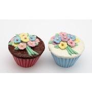 CosmosGifts Flower Cupcake Salt and Pepper Set