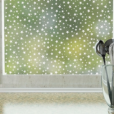 Odhams Press Star Struck Privacy Window Film; 84'' H x 48'' W