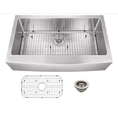 Soleil 35.875'' x 20.75'' Single Bowl Farmhouse/Apron Kitchen Sink