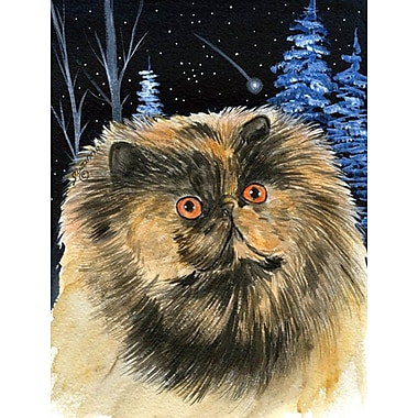 Caroline's Treasures Starry Night Persian Cat House Vertical Flag