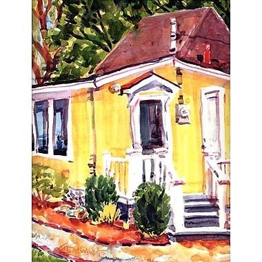 Caroline's Treasures Yellow Cottage House Vertical Flag