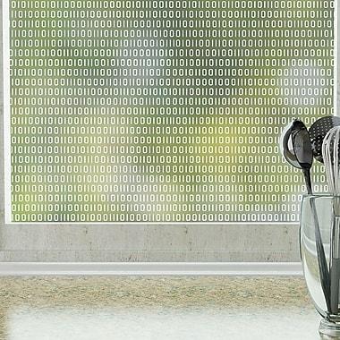 Odhams Press Bits and Bytes Privacy Window Film; 84'' H x 48'' W