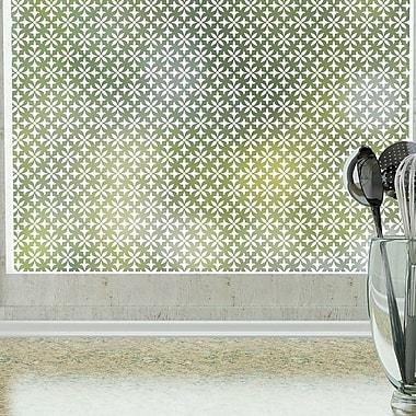Odhams Press Fleur Privacy Window Film; 48 H X 36 W