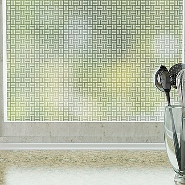 Odhams Press Egyptian Weave Privacy Window Film; 84'' H x 48'' W