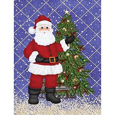 Caroline's Treasures Santa Claus and Christmas Tree House Vertical Flag