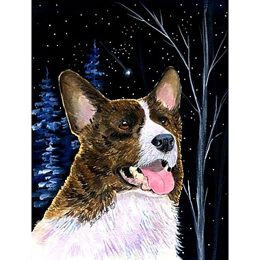 Caroline's Treasures Starry Night Corgi 2-Sided Garden Flag