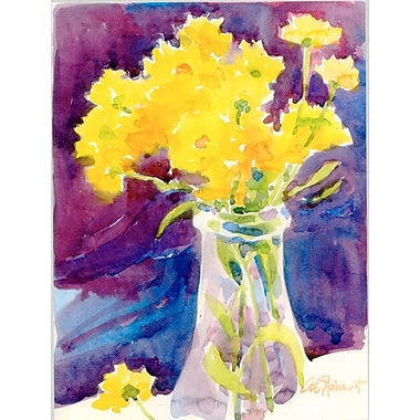 Caroline's Treasures Yellow Flowers in a Vase 2-Sided Garden Flag