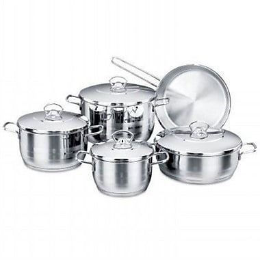 YBM Home Stainless Steel 10 Piece Cookware Set
