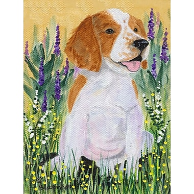 Caroline's Treasures Welsh Springer Spaniel House Vertical Flag