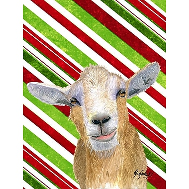 Caroline's Treasures Candy Cane Goat Christmas House Vertical Flag