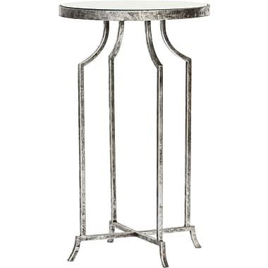Knox & Harrison End Table; Silver Leaf
