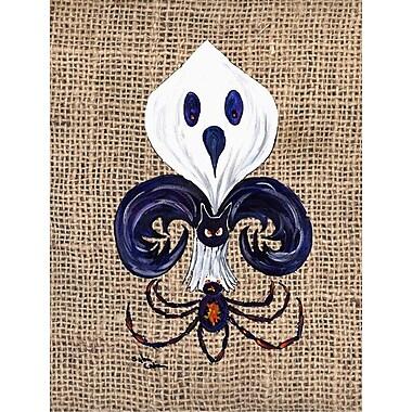 Caroline's Treasures Halloween Ghost Spider Bat Fleur de lis House Vertical Flag
