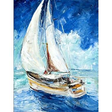 Caroline's Treasures Sailboats in Blue House Vertical Flag