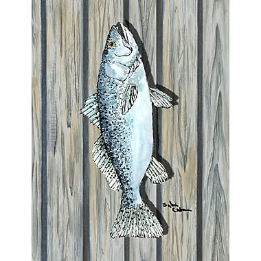 Caroline's Treasures Fish Speckled Trout 2-Sided Garden Flag