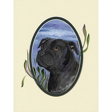 Caroline's Treasures Staffie 2-Sided Garden Flag