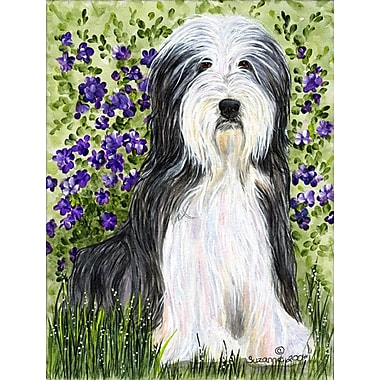 Caroline's Treasures Bearded Collie 2-Sided Garden Flag