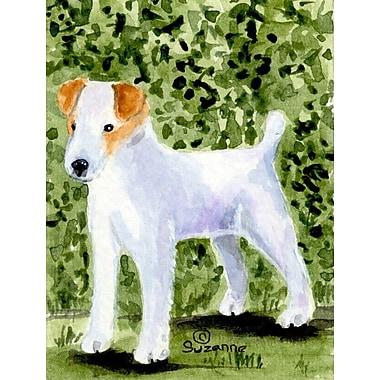 Caroline's Treasures Jack Russell Terrier 2-Sided Garden Flag