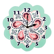Trend Lab Cocoa Mint 11'' Moroccan Paisley Wall Clock
