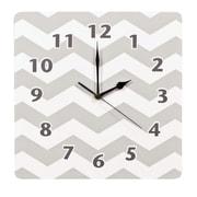 Trend Lab Dove Gray 11'' Chevron Wall Clock