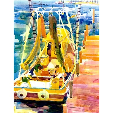 Caroline's Treasures Shrimp Boats House Vertical Flag